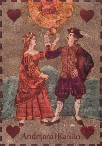 Siniša Reberski - Andrijana i Kamilo, akvarel na papiru, 50x70cm, 2019., foto: Josip Strmečki