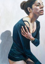 Autoportret - akril na ljepenci, 35,5x50cm, 2017.