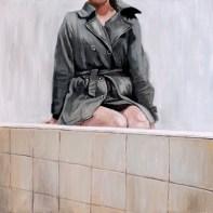 Autoportret - akril na platnu 30x30cm, 2018.