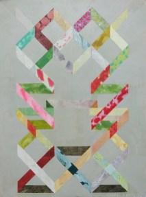 Cilj je put - varijacija na temu 4 (Banderole); ulje, jajčana tempera, akrilik/platno, 1992.-2014.