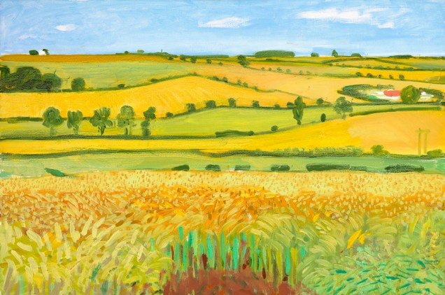 "David Hockney - ""Woldgate Vista, 27. srpnja 2005."", ulje na platnu, 61 x 91,4 cm, © David Hockney, foto: Richard Schmidt"