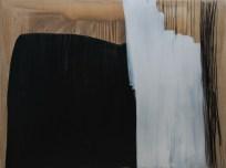 """Black, White i šiblje"", 150x200cm, akril i ugljen na platnu, 2017."
