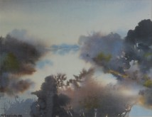 Milivoj Svoboda - Uz Ilovu, akvarel 38x43cm, 1986.