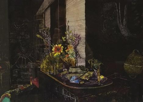 Mrtva priroda, vodena boja i tuš na papiru, 29x42cm