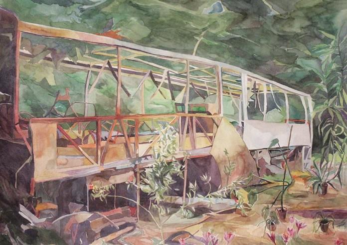 Nakon nekog vremena, akvarel na papiru, 57x77cm