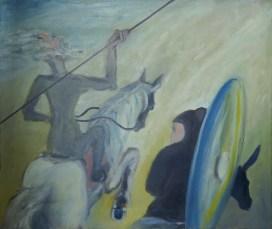 Nedeljko Tintor - Don Quijote i Sancho Panza, 1995., ulje na platnu, 60x73cm