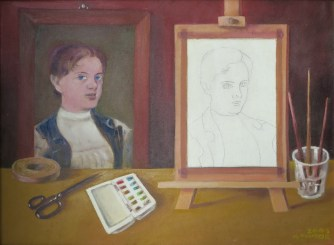 Nedeljko Tintor - Slava Raškaj, 2003., ulje na platnu, 40x56cm