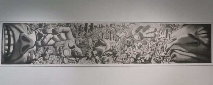 Priča o igračkama III, 2003., olovka na papiru, 150 x 750 cm