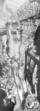Sat anatomije , 1996-1997., olovka na papiru, 240 x 80 cm