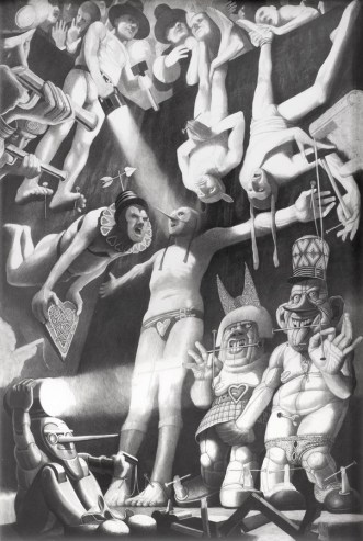 Stvorenje s raširenim rukama, 1996-1997., olovka na papiru, 110 x 75 cm