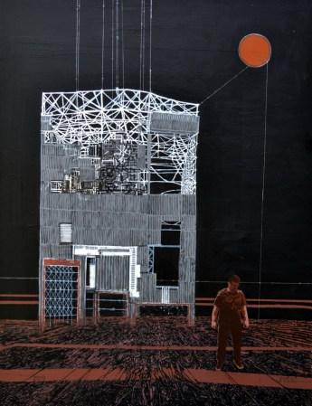 Želimir Fišić - Vanishing Point; kombinirana tehnika na platnu, 100x75cm, 2019.