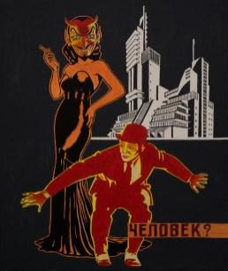 Zvonimir Haramija Hans - The End of Humanity; akril na platnu,120x100cm, 2020.