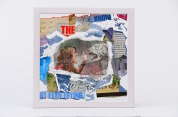 Fragmenti života, tehnika laminiranja stakla, 20x20cm, 2013.