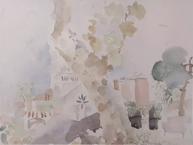 Impressions from the parc, 30 x 40 cm, akvarel, 2020.