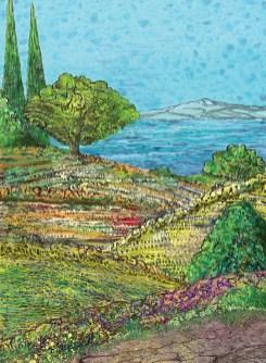 Svebor Vidmar - Boje Mediterana, digitalna grafika na papiru, 40x30cm, 2020.