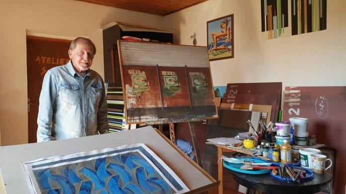 Željko Subić u ateljeu