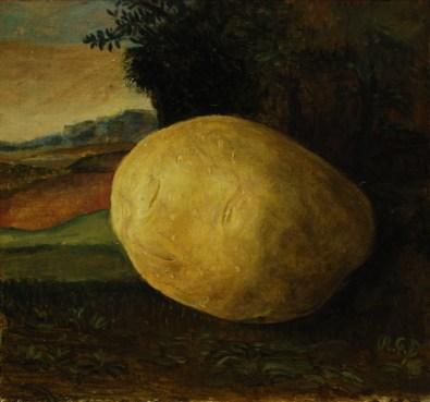 Krumpir - ulje na ljepenci, 13x12 cm, 2016.
