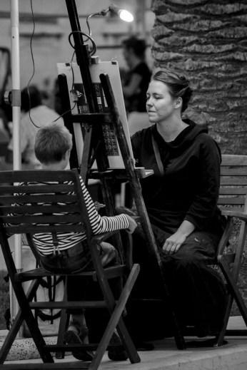 Sandra Radić Parać - portretiranje, trogirska riva, 2011.