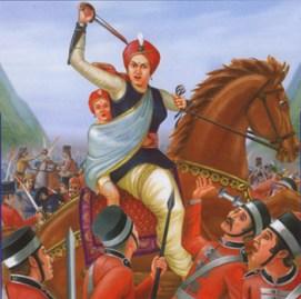 Queen of Jhansi- Laxmi Bai (Pic from satyaitihaas.wordpress.com)