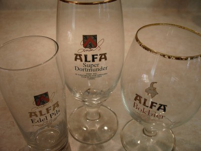 Alfa beer glasses