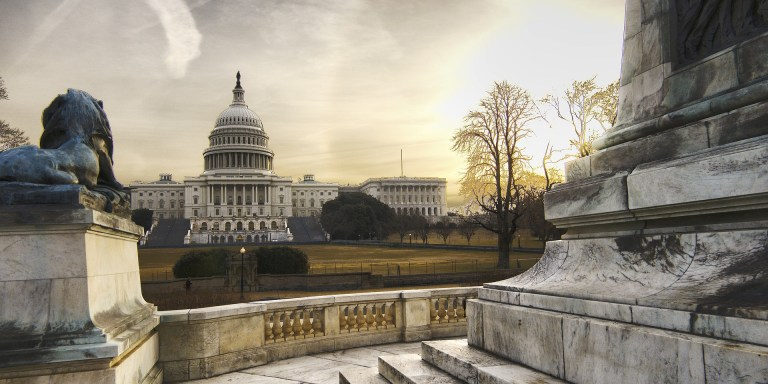 Capital Hill in the evening