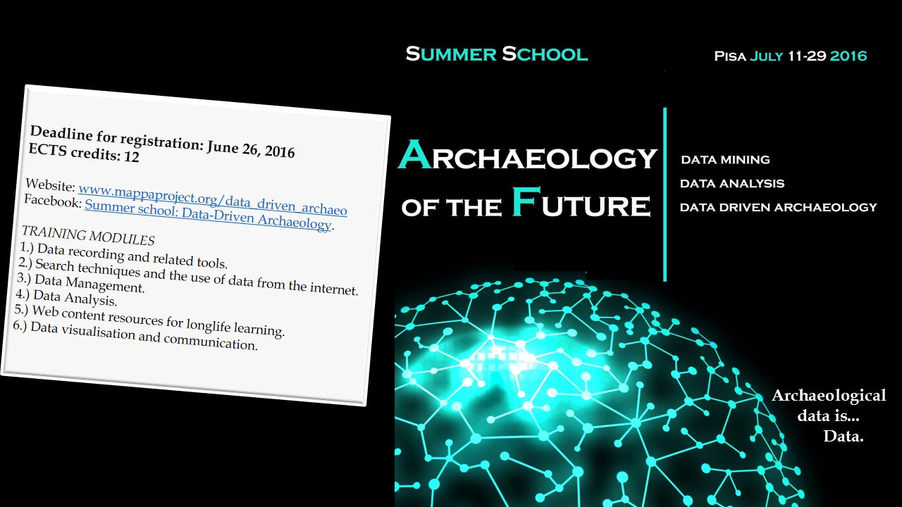 CALL / A Summer School in data-driven Archaeology @ University of Pisa