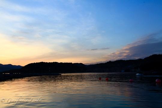 colori del tramonto ligure