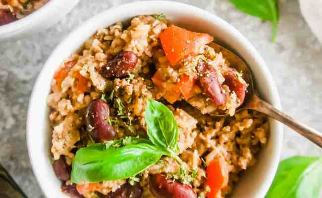 One Pot Ground Turkey Rice And Beans Gf