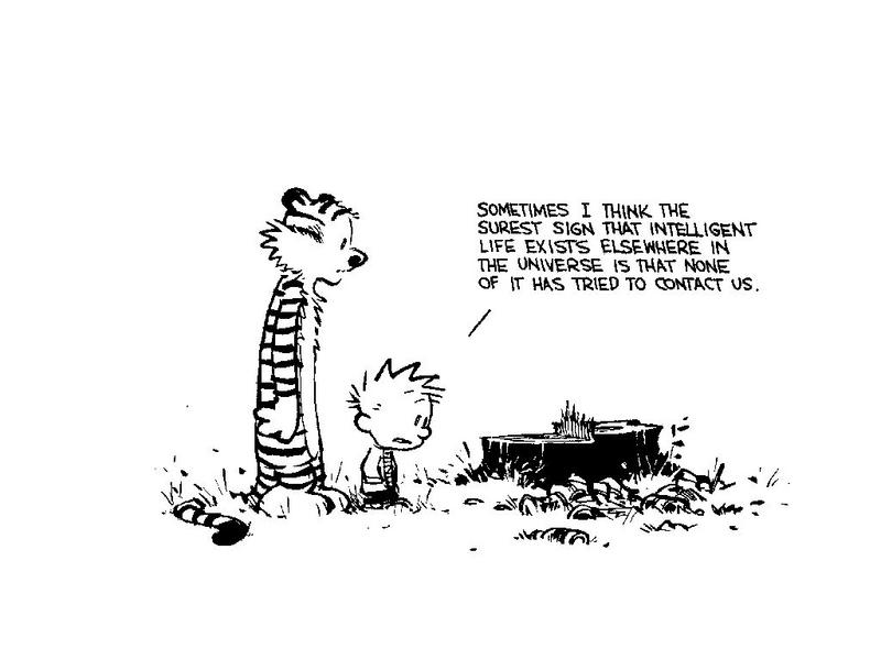 Calvin and Hobbes - Intelligent Life