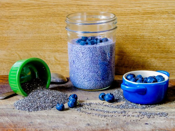 This Blueberry, Maple, and Almond Milk Overnight Chia Pudding is lactose-free and the perfect quick, grab-and-go breakfast for busy mornings!