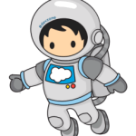 Floating Cartoon Astronaut