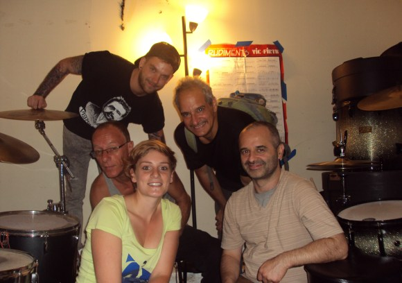 Lana Pauly and Pit Romersa with Mario Monaco, Robby Ameen and Jéróme