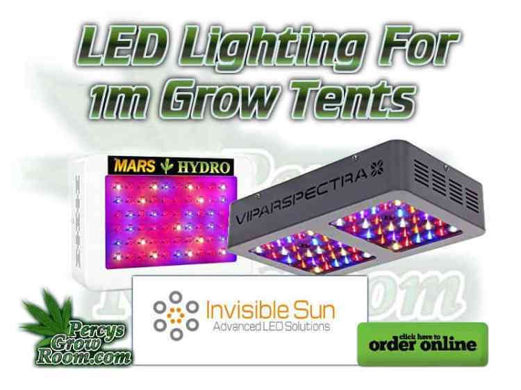 LED lighting for 1m grow tent
