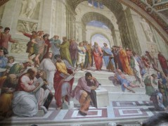 The School of Athens by Raphael, a famous piece I studied in art history class. Cool to see it in person :)