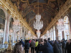 The famous Hall of Mirrors. While it is overly ornate, I actually thought this room was pretty cool. The mirrors line up with the windows across from them to make the whole room sparkle.