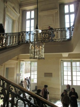 The stairway in the Petit Trianon.