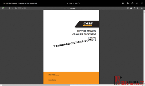 small resolution of case service manual full set
