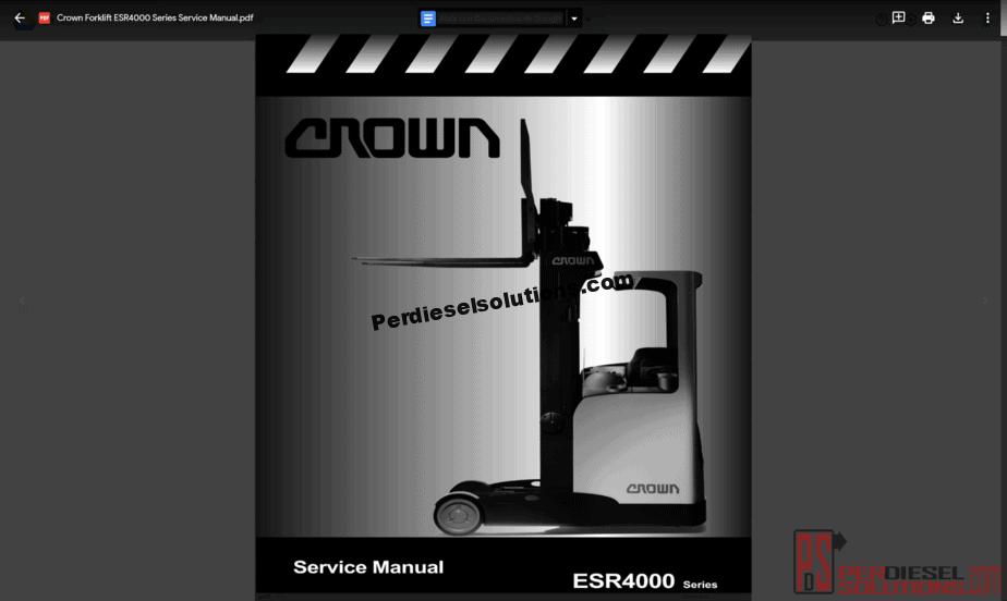 medium resolution of crown forklift truck service manual