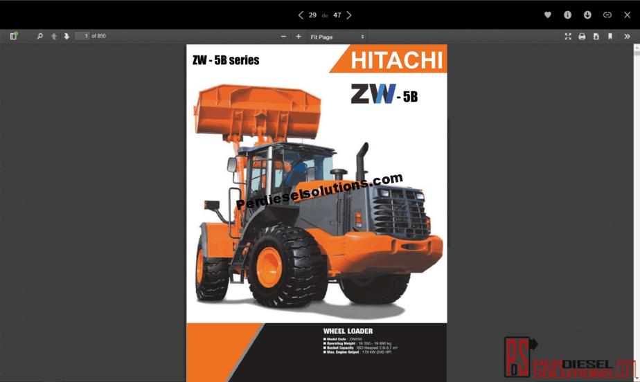 medium resolution of hitachi wheel loader zw 5b series full workshop manual pdf