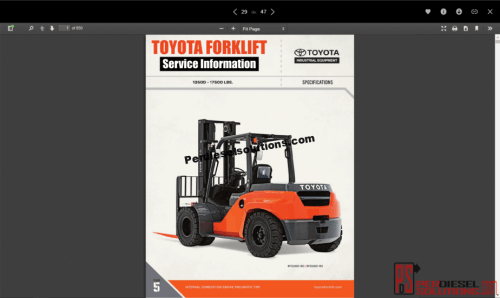 small resolution of toyota forklift truck full service information parts repair diagrams