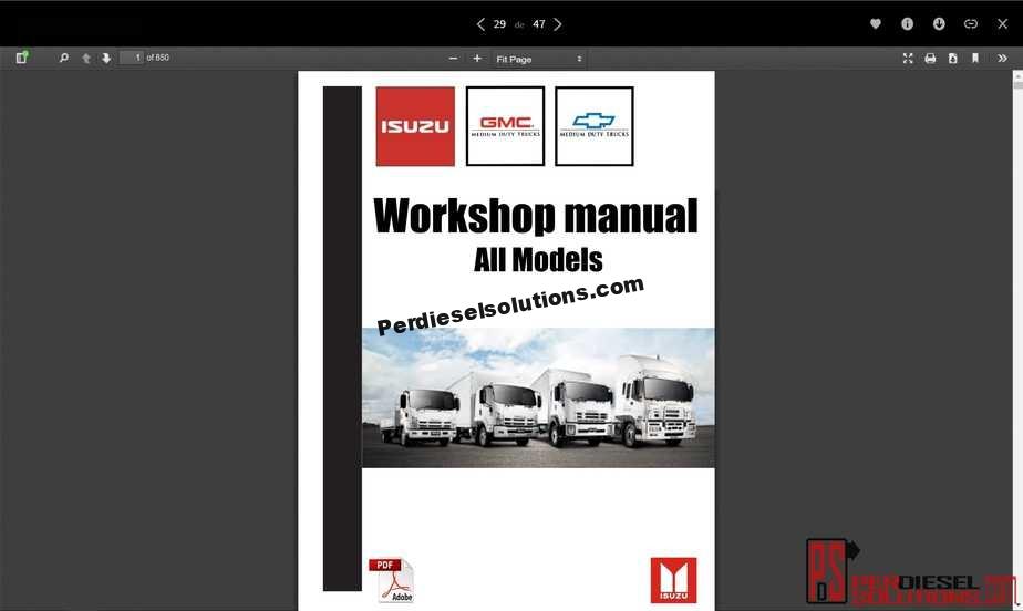 hight resolution of isuzu workshop manual all models