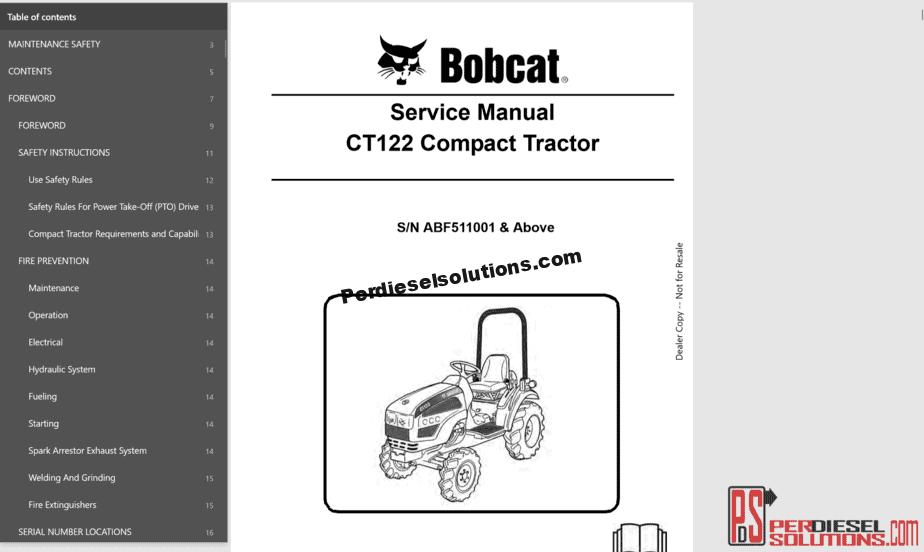 hight resolution of bobcat service library 08 2017 full pdf pdf