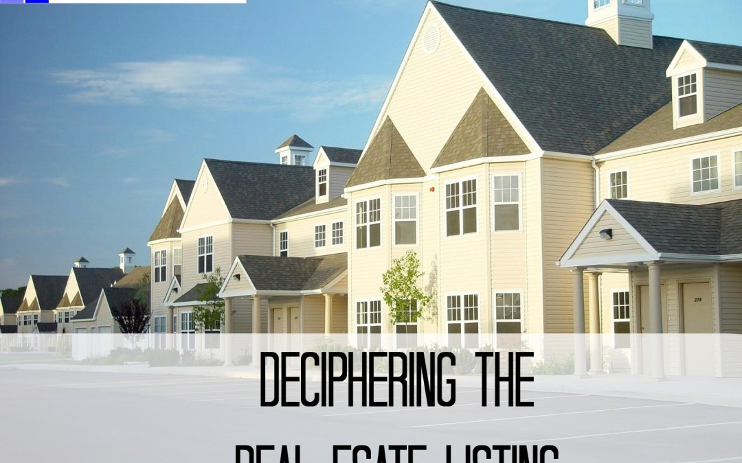 Deciphering the Real Estate Listing