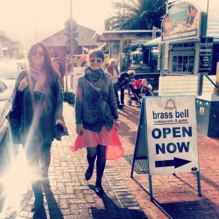 Jana and Sofia in Kalk Bay. We went to 'Excuse my French' for crepes and coffee to celebrate Sofia's birthday.