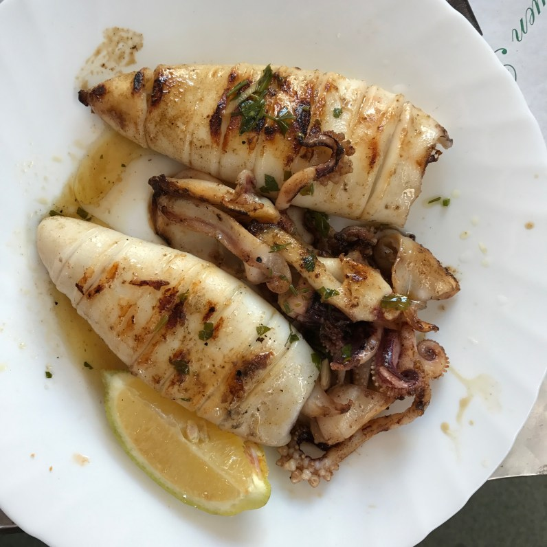 More squid a la plancha