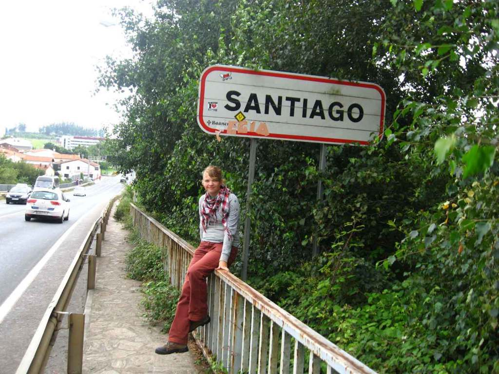 Tabliczka z napisem Santiago