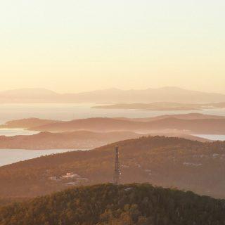 Hobart Bay from Mt Wellington - Tasmania - Australia - © Claire Blumenfeld