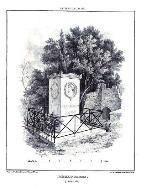 Tombe de Desaugiers et citerne