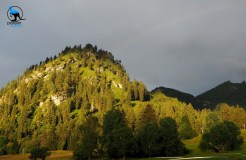 The hill we climbed for views of Neuschwanstein and a little excitement: Hornburg
