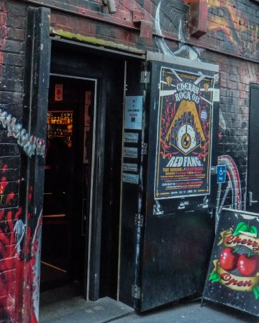 Doorway to the Cherry Bar in ACDC Lane